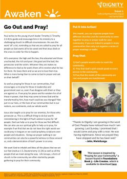 Awaken Issue 1 - Go Out and Pray-page001